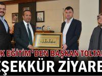 Halk Eğitim'den Başkan Toltar'a teşekkür