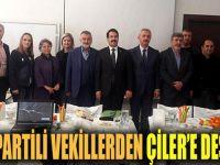 AK Partili vekillerden Çiler'e destek!
