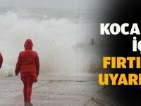 Kocaeli'de fırtına uyarısı!