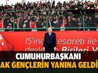 Cumhurbaşkanı AK Gençlerin yanına geldi