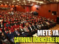 Mete Yarar, Çayırova'da öğrencilerle buluştu