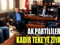 AK Partililerden Teke'ye ziyaret