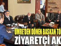 Umre'den dönen Başkan Toltar'a ziyaretçi akını