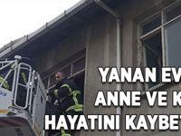 Çöp dolu evde çıkan yangında, anne ve kızı öldü