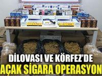 Dilovası ve Körfez'de kaçak sigara operasyonu!