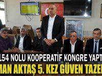 Osman Aktaş 5. kez güven tazeledi