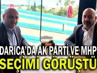 Bıyık, MHP ilçe başkanıyla seçimi konuştu
