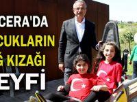 Macera'da Çocukların Dağ Kızağı Keyfi