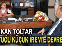 Başkan Toltar, koltuğunu Küçük İreme bıraktı
