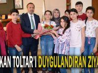 Başkan Toltar'ı duygulandıran ziyaret