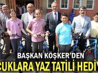 Başkan Köşker'den Çocuklara Yaz Tatili Hediyesi