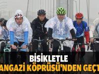 Osmangazi Köprüsü'nden bisikletle geçtiler