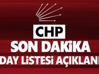 CHP'de listeler belli oldu!