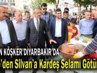 Başkan Köşker, Diyarbakır Silvan'da