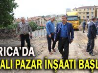 Kapalı pazar inşaatında çalışma başladı
