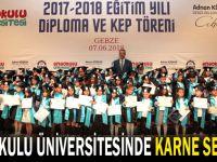 Anaokulu Üniversitesi'nde karne sevinci