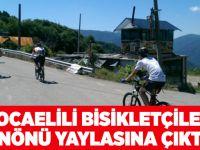 Kocaelili bisikletçiler İnönü Yaylasına çıktı