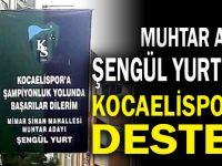Şengül Yurt'tan Kocaelispor'a destek