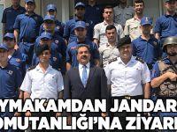 Kaymakamdan Jandarma Komutanlığı'na ziyaret