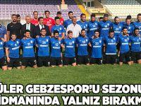 Güler Gebzespor'u sezonun ilk idmanında yalnız bırakmadı
