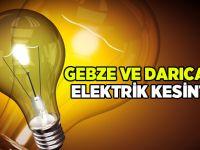 Gebze ve Darıca'da elektrik kesintisi