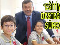 ''Eğitime desteğimiz sürecek''