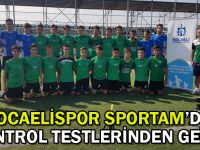 Kocaelispor SPORTAM'da kontrol testlerinden geçti