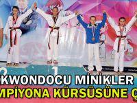 Taekwondocu Minikler Şampiyona kürsüsüne çıktı