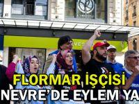 Flormar işçisi Cenevre'de eylem yaptı
