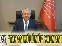 """Sarıbay, """"Tahammülümüz kalmamıştır"""""""