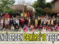 Öğrencilerden Demirci'ye teşekkür