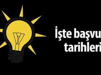 AK Parti'de başvuru süreci başlıyor!
