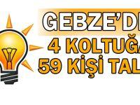 Gebze'den 4 Koltuğa, 59 kişi talip!