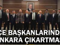 İlçe başkanlarından Ankara çıkartması