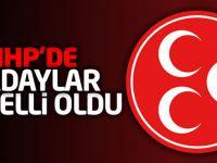 MHP'de 30 il'de adaylar belli oldu