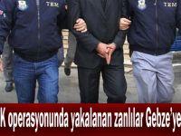 PKK/KCK operasyonunda yakalanan zanlılar Gebze'ye getirildi