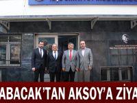 Karabacak'tan Aksoy'a ziyaret
