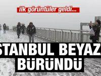 Ve İstanbul'a beklenen kar geldi!