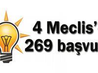 4 Meclis'e 269 başvuru