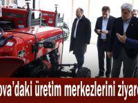 Çayırova'daki üretim merkezlerini ziyaret etti