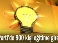 AK Parti'de 800 kişi eğitime girecek