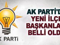 AK Parti'de ilçe başkanları açıklandı