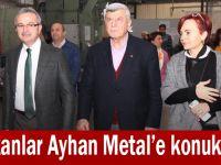 Başkanlar Ayhan Metal'e konuk oldu