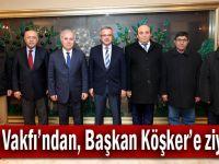 Cem Vakfı Başkanı Döner, Başkan Köker'i ziyaret etti