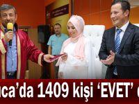 Darıca'da 1409 kişi ''EVET''dedi