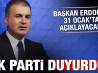 AK Parti duyurdu! 31 Ocak'ta açıklanacak