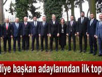 Belediye başkan adaylarından ilk toplantı