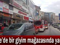 Gebze'de bir giyim mağazasında yangın!