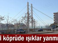Yeni köprüde ışıklar yanmıyor