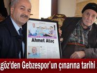Büyükgöz'den Gebzespor'un çınarına tarihi ziyaret